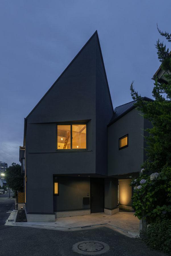 世田谷区「NKSK」の狭小住宅 完成写真